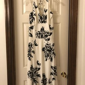 Like new WHBM mid-calf halter dress. Size M